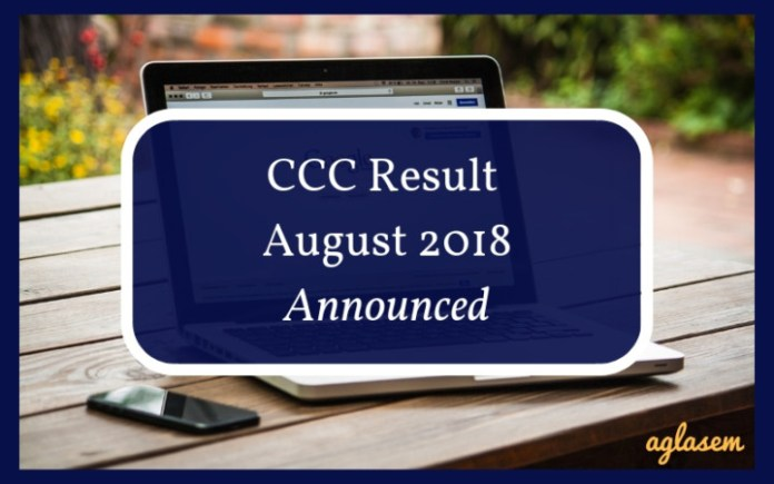 CCC Result August 2018