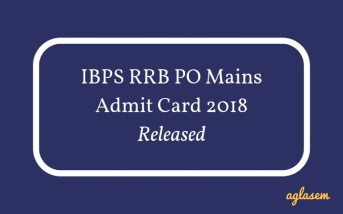 IBPS RRB PO Mains Admit Card 2018