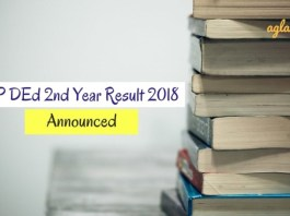AP DEd 2nd Year Result 2018