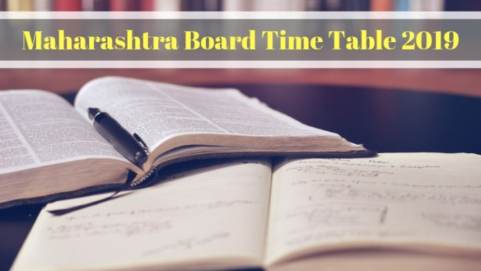Maharashtra Board Time Table 2019