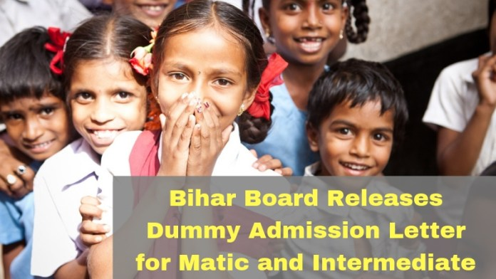 Bihar Board Releases Dummy Admission Letter