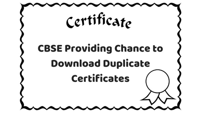 CBSE Providing Chance to Download Duplicate Certificates