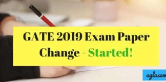 GATE 2019 Exam Paper Change