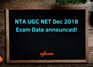 NTA UGC NET Dec 2018 Exam Date