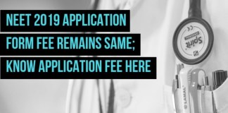 NEET 2019 Application Form Fee