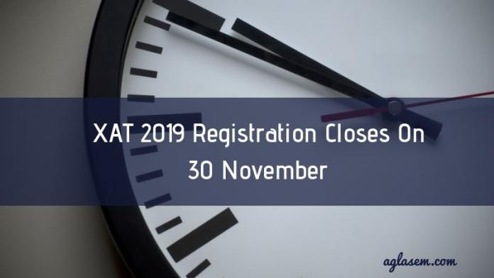 XAT 2019 Registration Closes On 30 November