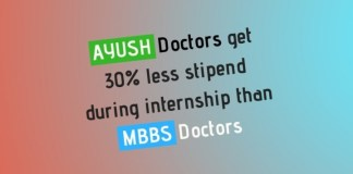 AYUSH MBBS Internship Stipend Gap