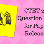 CTET 2018 Question Paper for Paper 1