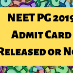 NEET PG 2019 Admit Card