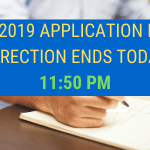 NEET 2019 APPLICATION FORM CORRECTION ENDS TODAY
