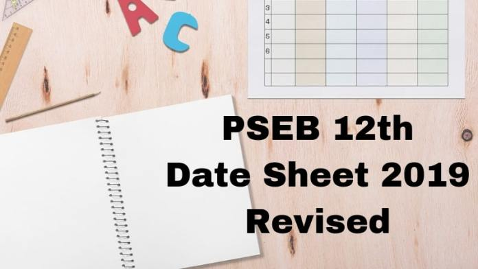 PSEB 12th Date Sheet 2019 Revised