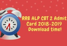RRB ALP CBT 2 Admit Card Time