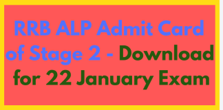 RRB ALP Admit Card for Stage 2