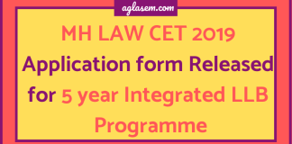 MH LAW CET 2019 Application form