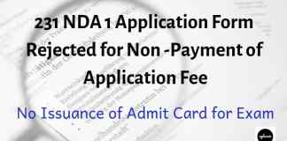NDA 1 Application Form Rejected