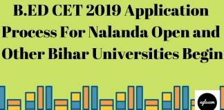 B.ED CET 2019 Application Process For Nalanda Open and Other Bihar Universities Begin Aglasem