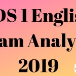 CDS 1 English Exam Analysis 2019