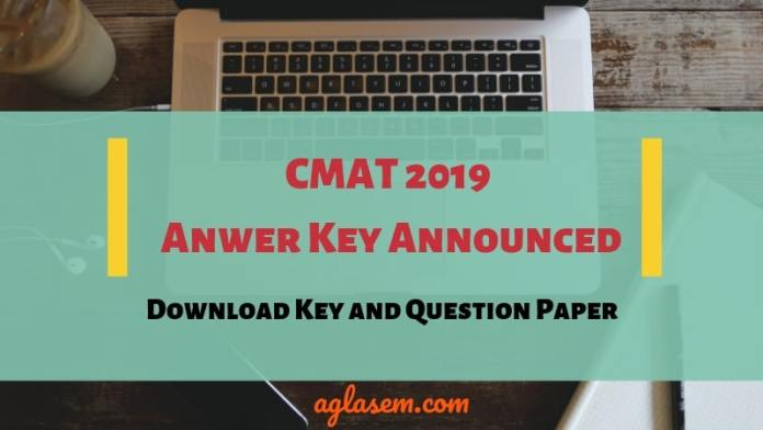 CMAT 2019 Answer Key Released By NTA