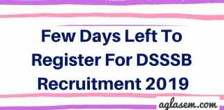 DSSSB Recruitment 2019 Aglasem