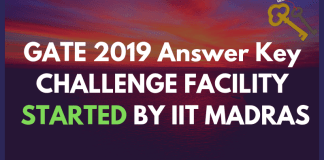 GATE 2019 Answer Key Challenge Facility Started by IIT Madras