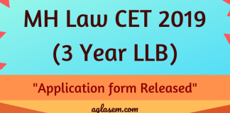 MH Law CET 2019 Application form - 3 Year LLB