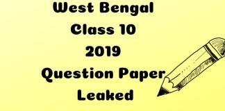 West Bengal Class 10 2019 Question Paper Leaked