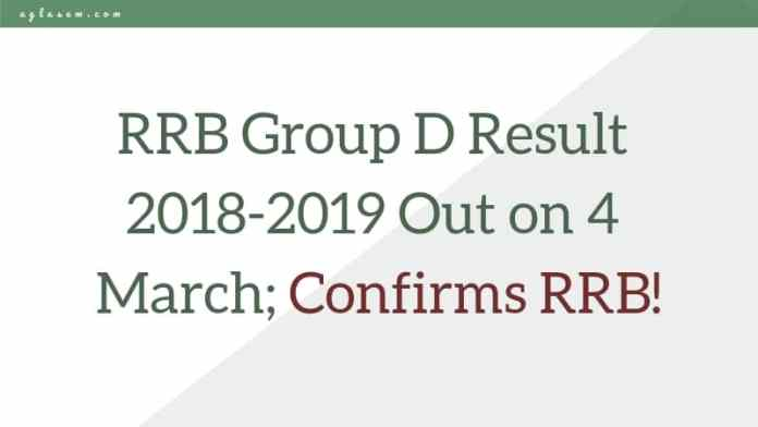 RRB Group D Result 2018-2019 Date