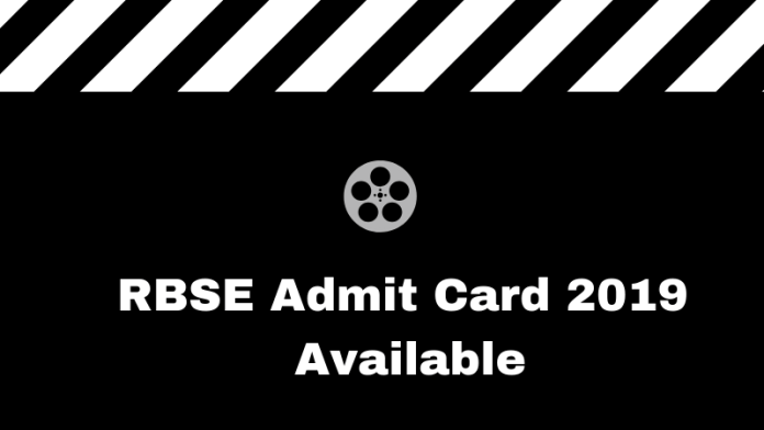 RBSE Admit Card 2019 Available