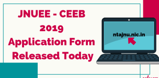 JNUEE - CEEB 2019 Application Form Released Today