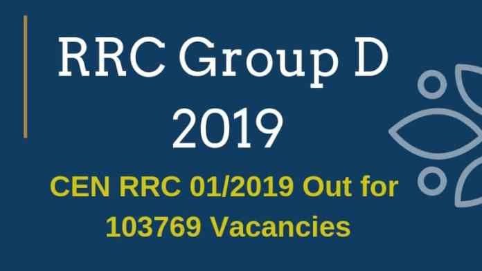 RRC Group D 2019