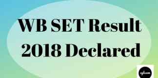 WB SET Result 2018 Aglasem