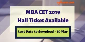 MBA CET 2019 Hall Ticket Released on mahacet.org