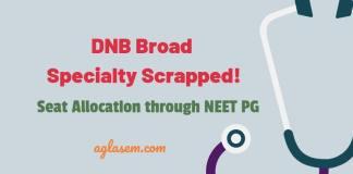 DNB Broad Specialty Scrapped