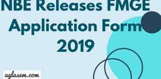 FMGE Application Form 2019 Aglasem