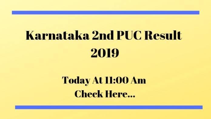 Karnataka 2nd PUC Result 2019