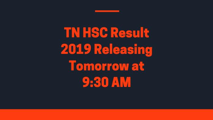TN HSC Result 2019 tomorrow