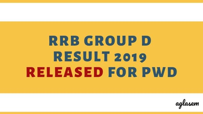 RRB Group D Result 2019 Released for PwD Aglasem