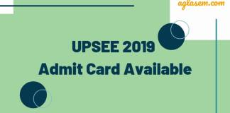 UPSEE 2019 Admit Card Available