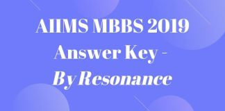 AIIMS MBBS 2019 Answer Key