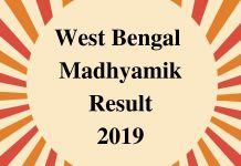 West Bengal Madhyamik Result 2019