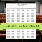 UGC NET Final Answer Key 2019