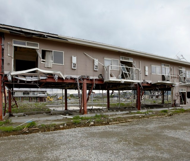 A Building In Ishinomaki On The Pacific Coast Of Japan Damaged By The Tohoku