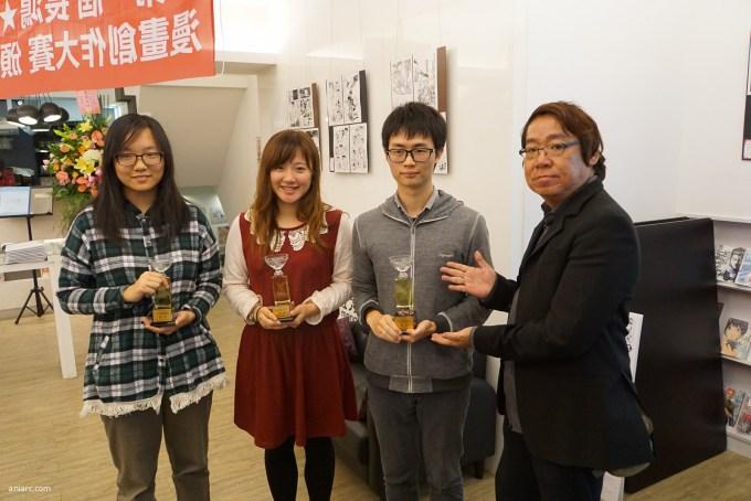 左起《送行者》作者竹川獅、《神豬祭》作者螃蟹、《流星賊》作者nofi