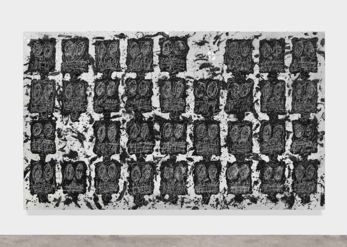 拉希德·約翰遜(Rashid Johnson),《無題的觀眾2016》,白色瓷磚,黑色肥皂,蠟所有圖片:©藝術家Courtesy Hauser&Wirth