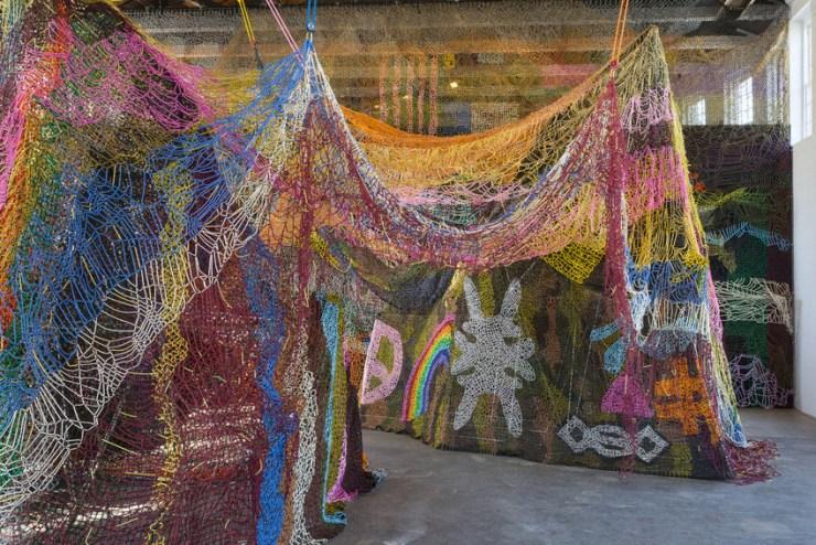 "Nick Cave, ""Until"" (2016), installation view, MASS MoCA. Photo by James Prinz, courtesy of MASS MoCA."