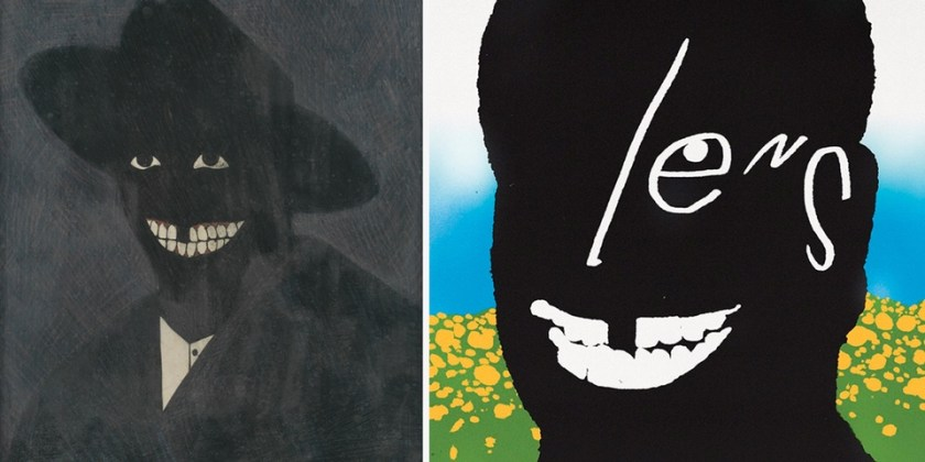 """Frank Ocean, """"Lens,"""" single cover, and Kerry James Marshall, <em>A Portrait of the Artist As a Shadow of His Former Self</em> (1980)."""