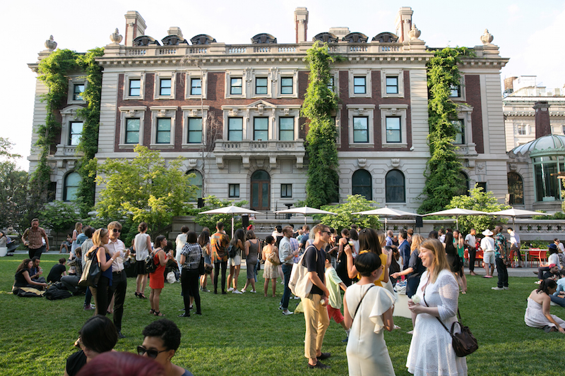 Cocktails at Cooper Hewitt in the Arthur Ross Terrace and Garden. Courtesy of the Cooper Hewitt, Smithsonian Design Museum.