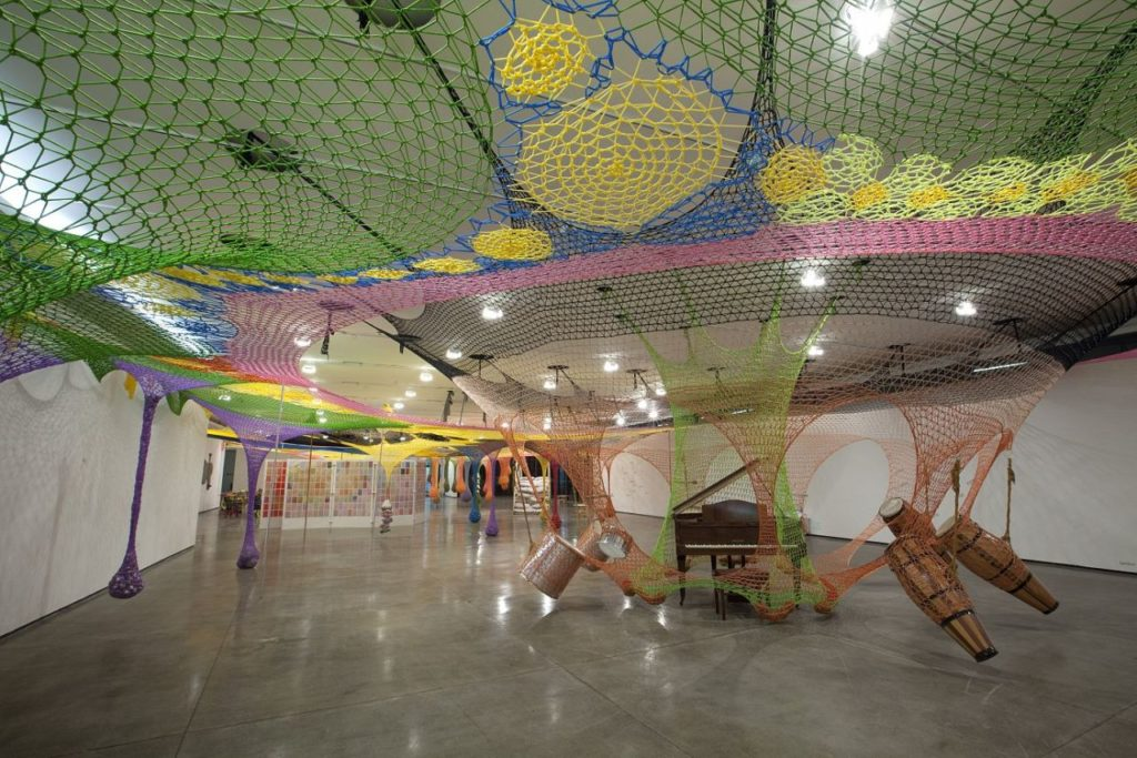 "Ernesto Neto's ""Candy Man Candy"" in Gallery 202 at the Guggenheim Bilbao in 2014. Image courtesy of the Guggenheim."