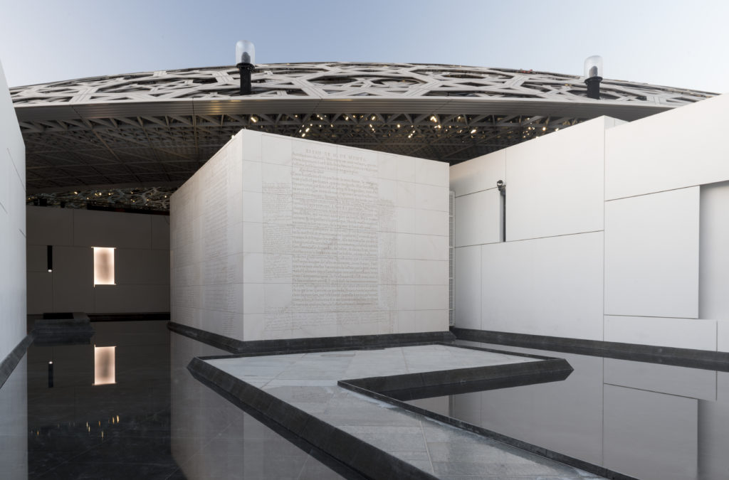 Jenny Holzer, For Louvre Abu Dhabi, (2017). © Louvre Abu Dhabi. Photo by Marc Domage.
