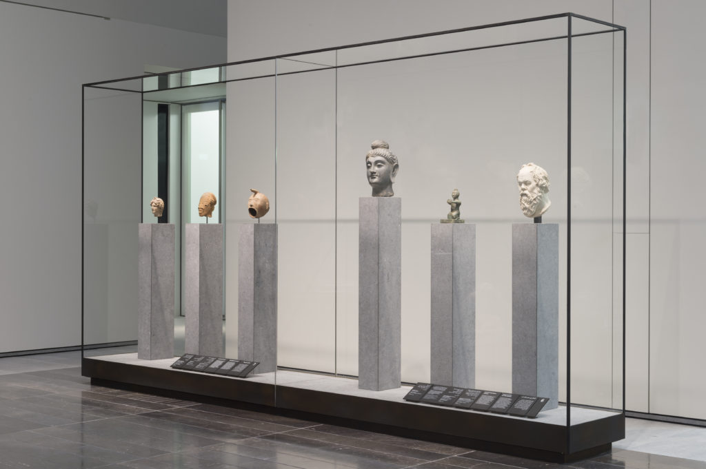 "Installation view of ""Civilisations and Empires."" © Louvre Abu Dhabi. Photo: Marc Domage."